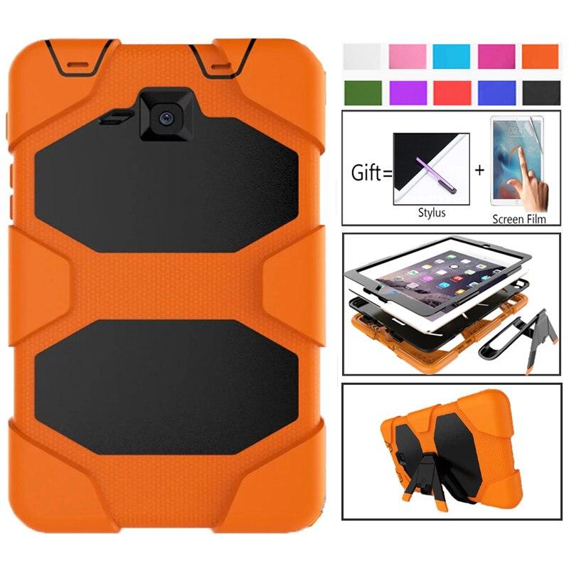 Tab A T280 SM-T285 чехол для планшета повышенной прочности Fundas, силиконовая задняя крышка для Samsung Galaxy Tab A, защитная подставка-держатель 7,0 дюйма-0