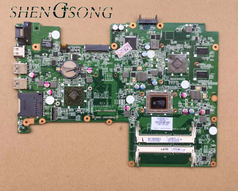 709176-001 DA0U56MB6E0 For HP Pavilion Sleekbook 15 laptop motherboard 709176-501 cpu A8-4555M 100% Tested 60 days warranty for hp laptop motherboard 6570b 686975 001motherboard 100% tested 60 days warranty