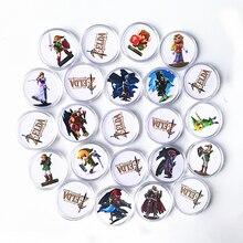 Snelle Verzending Volledige Set 23Pcs Nfc Kaart Van Amiibo De Legend Of Zelda Adem Van De Wilde Collection Coin tag Ntag215 Jong Link