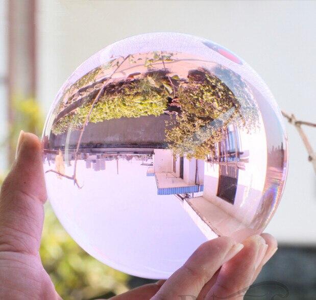 100mm Rare Quartz naturel cristal sphère rose boule magique Chakra guérison bonne chance feng shui balle artificielle Quartz Figurines