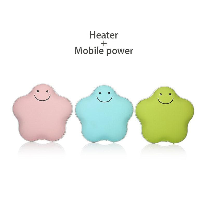 Usb Rechargeable Heater Mini Hand Warmer PTC ceramic heating Portable Mobile Power Macar ...