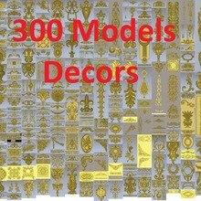 300 шт 3d STL рельефные модели для ЧПУ, Artcam, Aspire, Decors