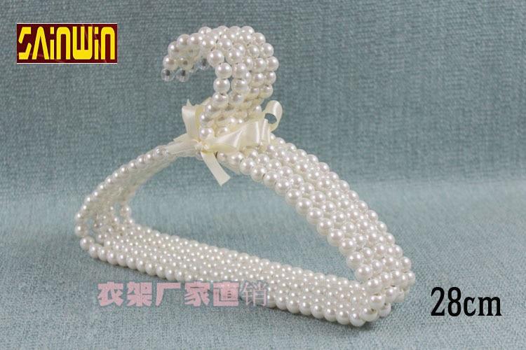Sainwin 10pcs / παρτίδα παιδιών από πλαστικό μαργαριτάρι 28cm λευκά ροζ κρεμάστρες για ρούχα παιδικών ρούχων