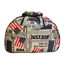 Fashion Waterproof Oxford Women bag American Flag Pattern Travel Bag Large Hand Canvas Luggage Bags