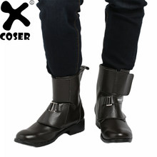 d93400f04a1e0 XCOSER Rogue One A Star Wars Story Jyn Erso chaussures noir PU bottines  2018 Halloween Party Movie Cosplay chaussures pour homme.