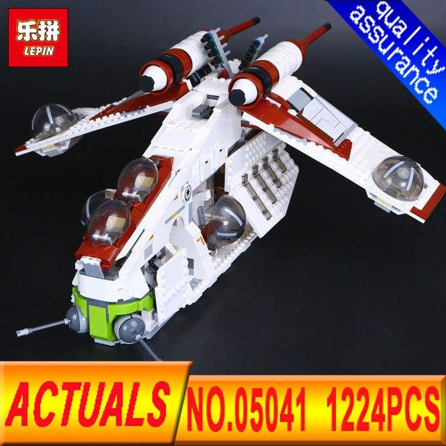 LEPIN 05041 Star 1175Pcs Series Wars Genuine The The Republic Gunship Set Educational Building Blocks Bricks lepin Toys 75021 цена