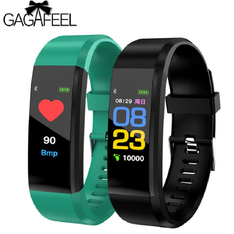 Gagafeel 115 Plus Smart Bracelet Sports Fitness Tracker Screen Touch Heart Rate Monitor Wristband Smart Watch for IOS Android