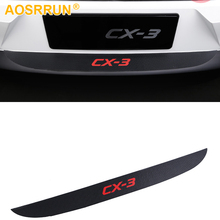 PU leather Carbon fiber Stying After guard Rear Bumper Trunk Guard Plate For Mazda CX-3 CX3 2016 2017 2018 Car Accessories