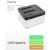 """Top Qualidade Dual Baías SATA Hard Disk Drive Caso Doca de 3.5 """"2.5"""" HDD SSD Estação clone Desligada"""
