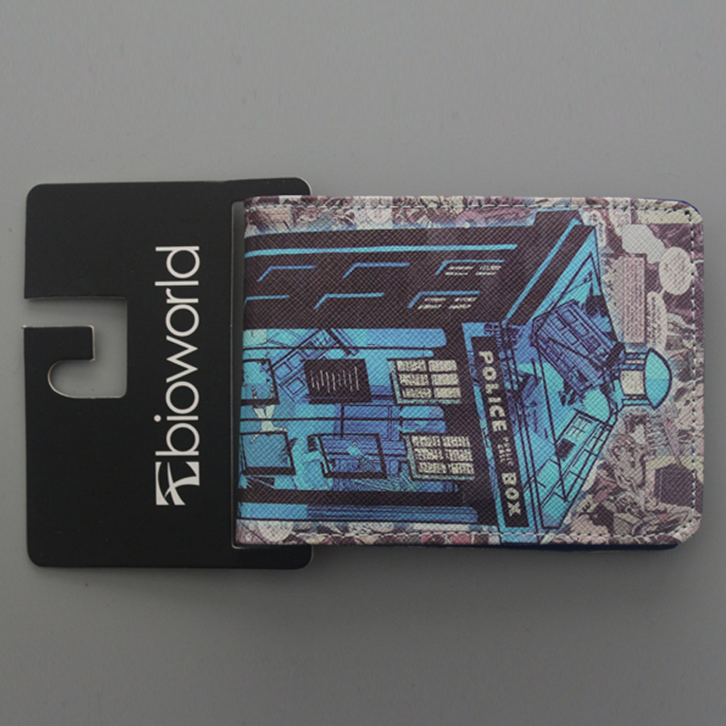 Мода Аниме Мультфильм Кошельки Вызова Box ДОКТОР КТО Кожаный Бумажник тонкий Кошелек Двойные Короткие Деньги Клип Мешок Мальчик Студент бумажник