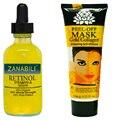 Retinol Vitamina A 2.5% de Ácido Hialurônico puro Creme para o Rosto + 120 ml de Soro Facial 24 K Máscara de Ouro Anti Rugas Anti Envelhecimento Máscara Facial