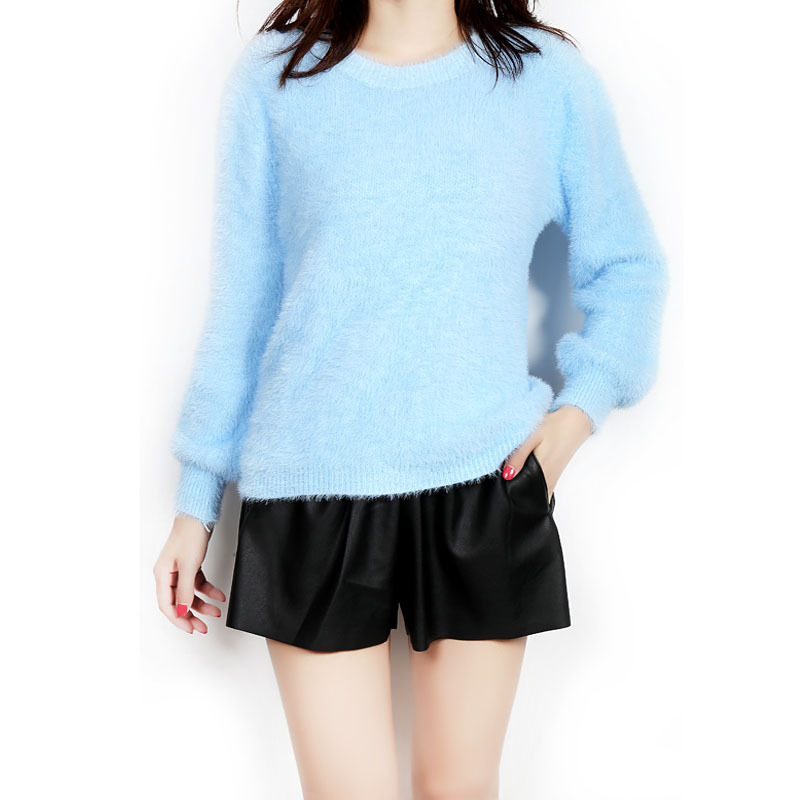 Women Fashion Winter Christmas Mohair Solid Sweater Pullovers 2016 Loose Knitted Sweaters Plus Size Pull Femme Hiver Kerst Trui