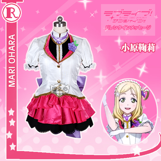 Anime! Love Live! Aqours Ohara Mari Episode 13 Palgantong Tickets for the Future Uniform Cosplay Costume Free Shipping