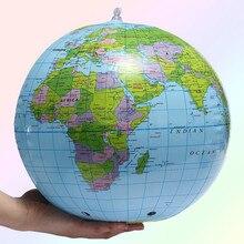 30 см надувной ПВХ земной шар карта земли научить образование географическая игрушка карта воздушный шар пляжный мяч