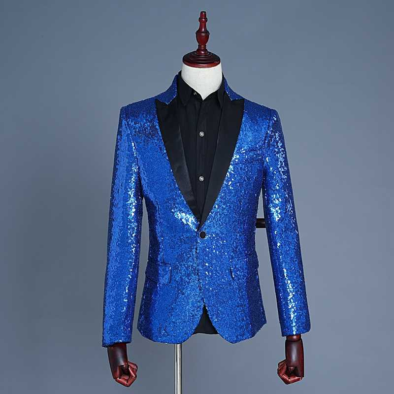 men s sequins blazer