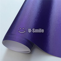 Premium Violet Matte Chrome Purple Brushed Vinyl Film Sticker Bubble Free For Car Wrapping Size 1