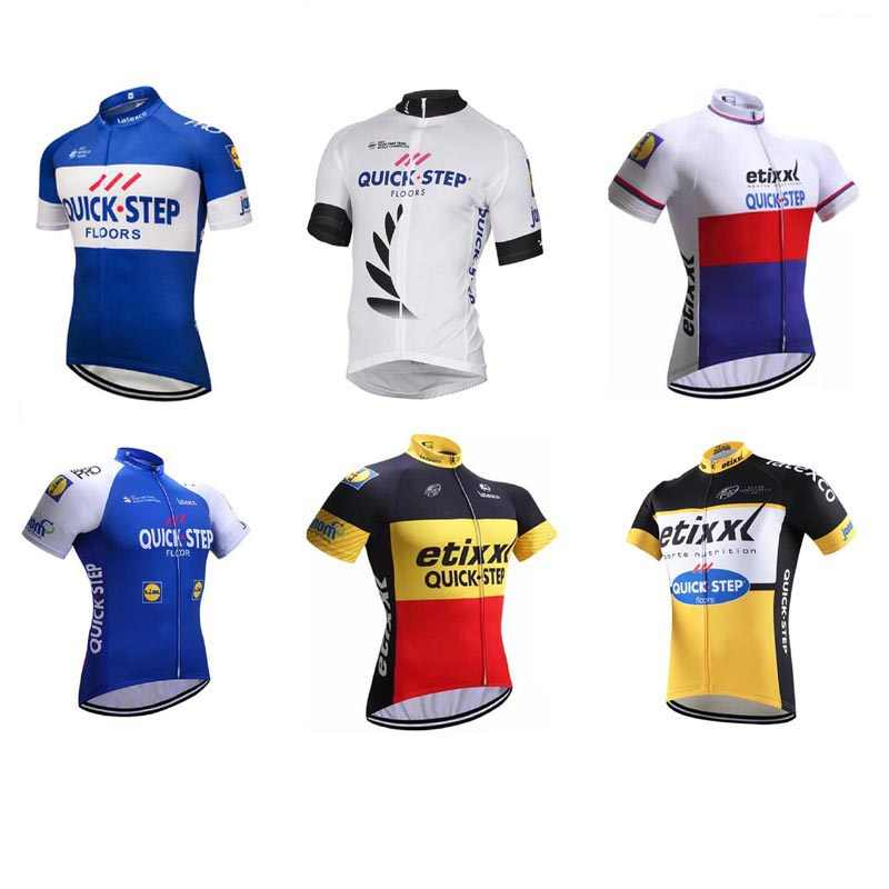 2019 Pro quick step Men Cycling Jersey Summer Team Short Sleeve Cycle Bike  Clothing Maillot Ropa 9ff202c67