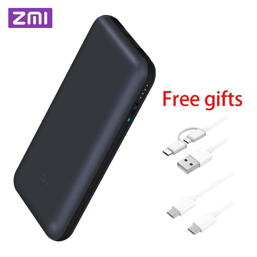 In Stock Xiaomi ZMI 15000/20000mAh QB815/QB820 USB-C Power Bank USB PD2.0 Powerbank Quick Charge 3.0 Type-C for Macbook Laptop аккумулятор xiaomi zmi power bank aura qb821 20000mah white