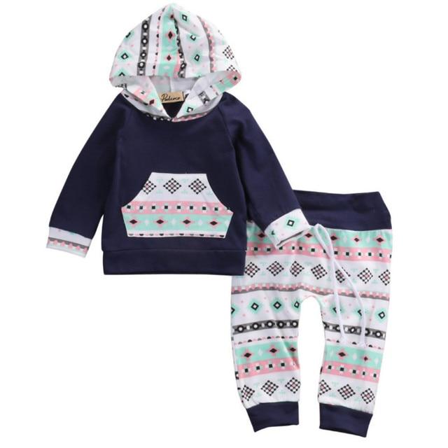a782e4dde FOCUSNORM 2pcs!!Newborn Baby Girl Boy Clothes Navy Blue Long Sleeve ...