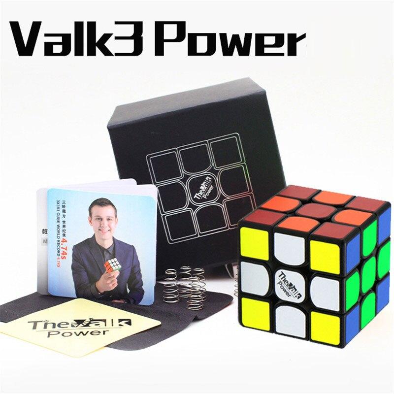 Qi Mofangge Valk3 Série Valk3 Puissance 3X3X3 Magnétique Mini Magic vitesse Cube Position Puzzle pour WCA Puzzle Magique Cubo Par aimants