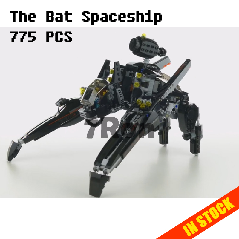 Models building toy 07056 775pcs Movie Series The Bat Spaceship Building Blocks Compatible with lego batman70908 toys & hobbie