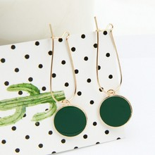 Punk 2017 New Fashion Ear Nail Personality Wild Green Circle Small Fresh Girl Heart Lady Earrings Manufacturers Wholesale