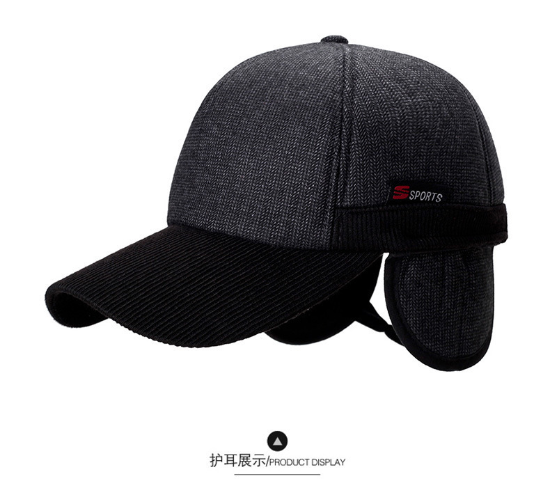 2018 Warm Winter Thickened Baseball Cap With Ears Men S Cotton Hat Snapback  Winter Hats Ear Flaps For Men Women Hat Wholesale-in Baseball Caps from  Apparel ... 6bf75a755351