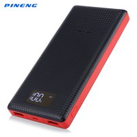 Genuine PINENG PN 969 20000mAh Dual USB External Mobile Battery Charger Li Polymer Power Bank Support