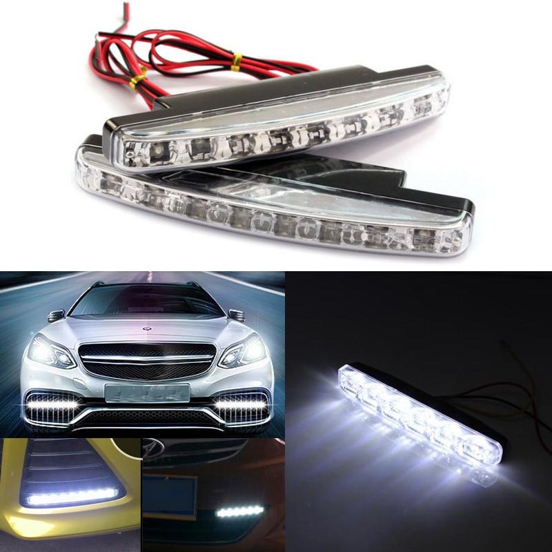 1Pcs 12V 8W 8LED Daytime Running Light Waterproof External Led Car Styling Car Light Source Fog Bar Lamp White