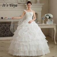 2017 New Arrival Real Photo Plus Size One Shoulder Wedding Dresses Skirt White Floor Length Bride