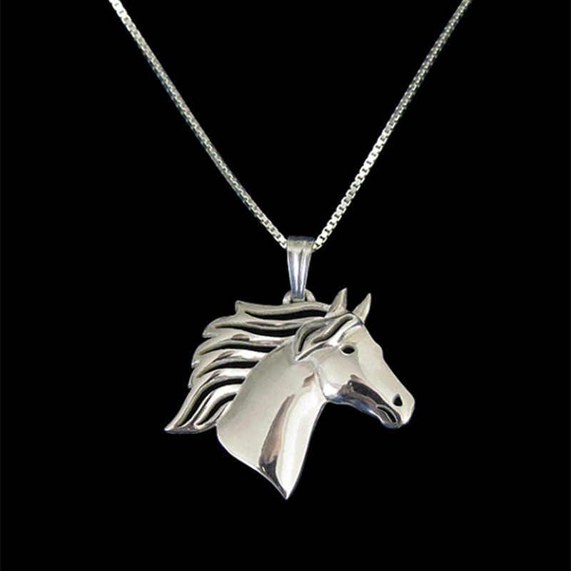 جديد فريد رومانسية الذهب الفضة اللون الحصان قلادة قلادة الجوع ألعاب قلادة المرأة أفضل صديق المختنق