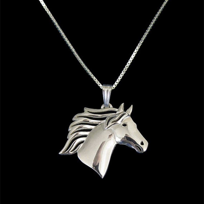 New Unique Romantic Gold Silver Color Horse Pendant Necklace Hunger Games Necklace Women Best Friend Choker