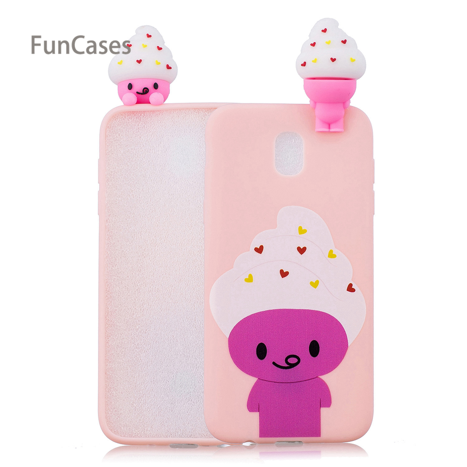 Cute Clouds Phone Case sFor Estojo Samsung J730 European Version Soft TPU Back Cover Case Samsung Galaxy J7 2017 EU Version