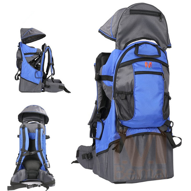 Foldable Baby Travel carrier Waterproof Baby toddlr Hiking Backpack Outdoor Mountaineering Baby back Frame Chair 5