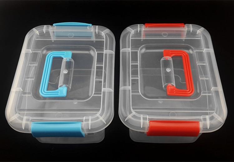 Boîte de rangement en plastique PP pour bijoux   1 pièce, petit, grand, carré, finition manuelle, nouveau produit, boîte de rangement J0670