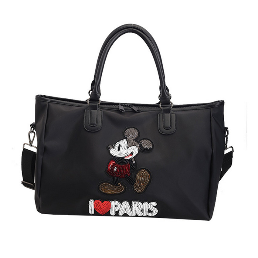 European And American Sequined Overnight Bag Portable Women's Bag Waterproof Duffel Bag