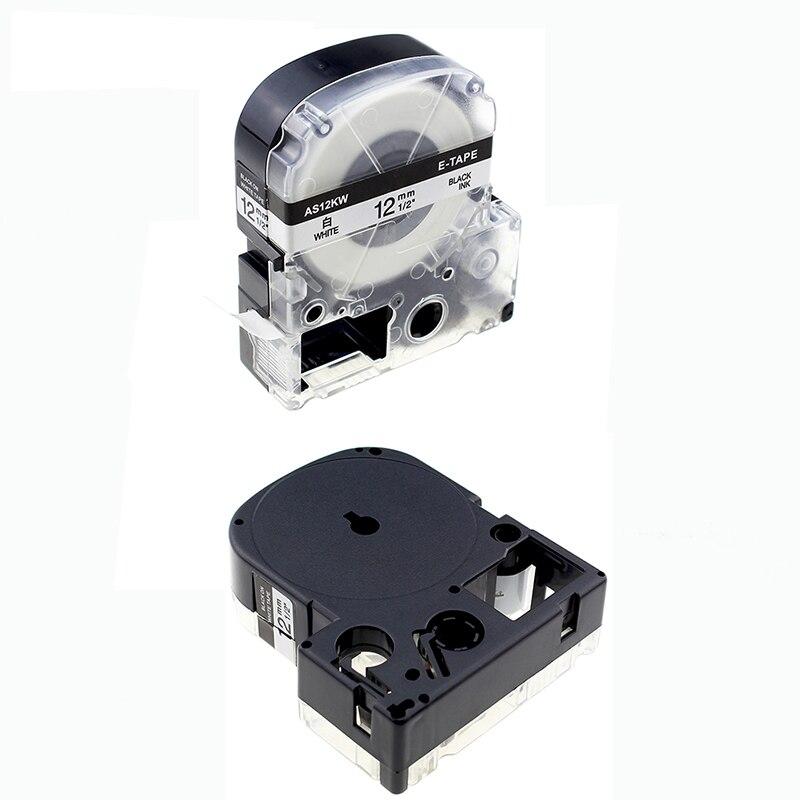 10x preto no branco padrao 12mm ss12kw lc 4wbn9 cassete fita compativel para epson lw 300