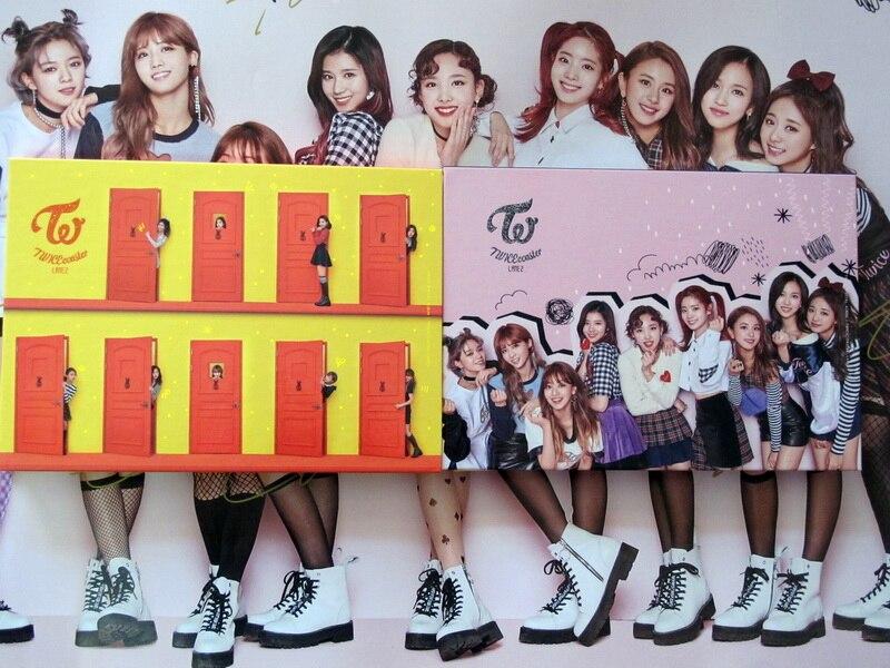 Deux fois autographié signé 2017 album TWICEcoaster: LANE 2 CD + photobook + affiche signée version officielle coréenne 02.2017