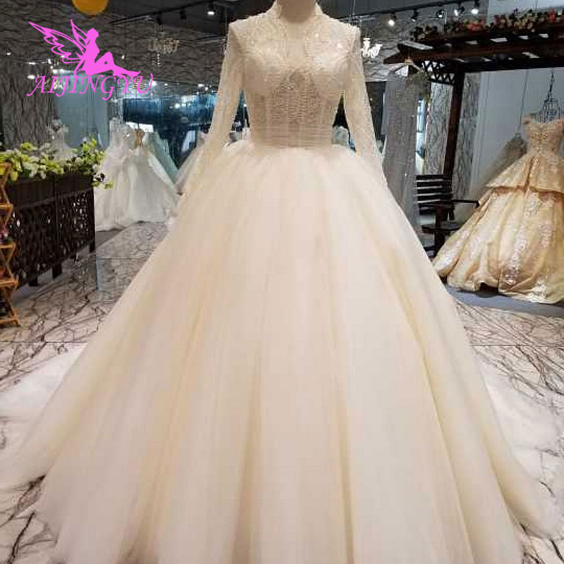 Shop Wedding Gowns: AIJINGYU Pleat Wedding Dress Pricess Gown Rhinestone