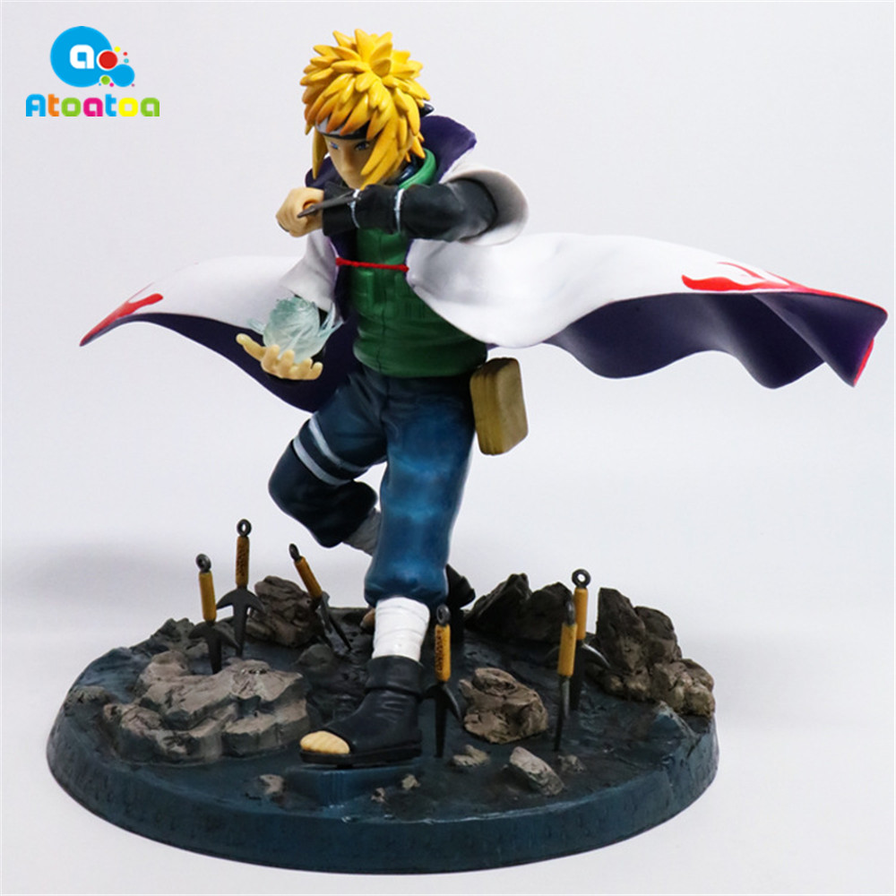 22cm Japaneses Anime NARUTO Shippuden Action Figure Namikaze Minato Pvc Collection Model Figurine Toys doll toys gifts hot anime naruto 4th hokage namikaze 6 action figure collectible pvc model gift toy