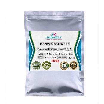 100-1000g naturalny ekstrakt z chwastów kozie kozie 30 1 ekstrakt Epimedium Icariin dla efektu przeciwnadciśnieniowego prowokacja tanie i dobre opinie Brokat BODY Horny Goat Weed Extract Powder 30 1 Epimedium Icariin extract YYH2 8888