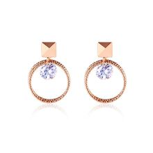 Gold Circle Earrings without Piercing