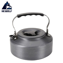 Hewolf 1.1L Outdoor Portable Kettle Camping Picnic Aluminum Water Teapot Coffee Pot Emergency Survival Cookware Tool