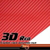 Hot Sale Red 8cmx127cm 3D Carbon Fiber Vinyl Film Car Sticker Wrap For Car Whole Body