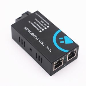 Image 5 - MINI Fiber Transceiver 10 100/100mbps Fibra Óptica Media Converter Wavelenth 1310nm 2 km 2port RJ45 para 1port SC Conector