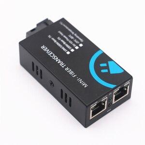 Image 5 - MINI włókna Transceiver 10/100Mbps z włókna optyczny media konwerter Wavelenth 1310nm 2km 2port RJ45 do 1port SC złącze