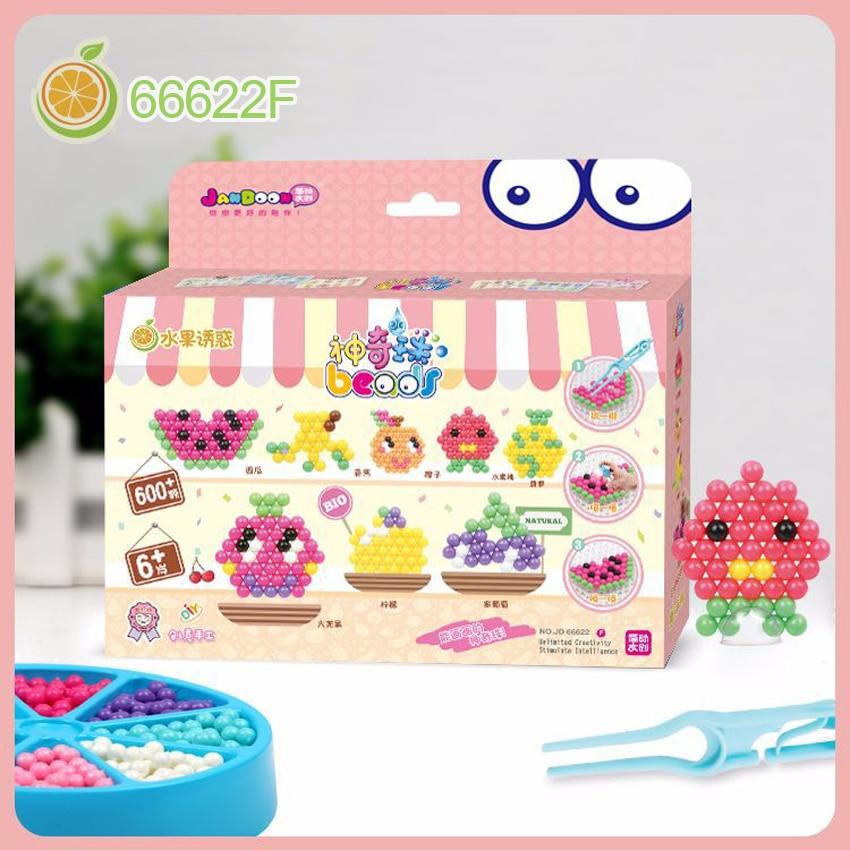 DOLLRYGA 66622F 600pcs 5mm Water Spray Aqua Sticky Perlen Magic Beads Educational Puzzles Accessories Kit For Children Kids Toys