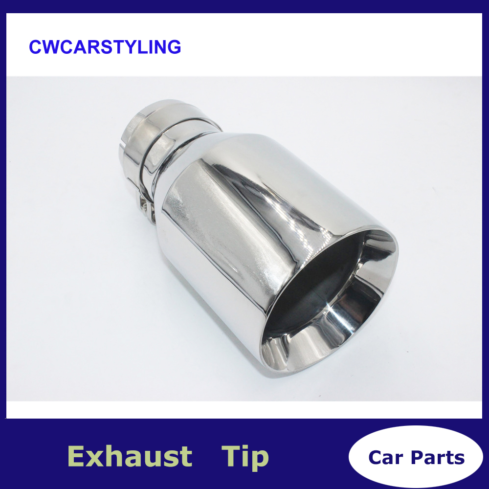 1PCS Inlet (54mm) Outlet (89mm) stainless steel Exhaust Tip/Muffler pipe For BMW BENZ AUDI VW Car Accessories1PCS Inlet (54mm) Outlet (89mm) stainless steel Exhaust Tip/Muffler pipe For BMW BENZ AUDI VW Car Accessories