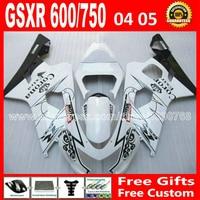 Полный новый черный белый для SUZUKI GSXR 600 750 горячая распродажа 2004 2005 зализа K4 RIZLA версия gsxr600 GSX R750 CJB 04 05 736
