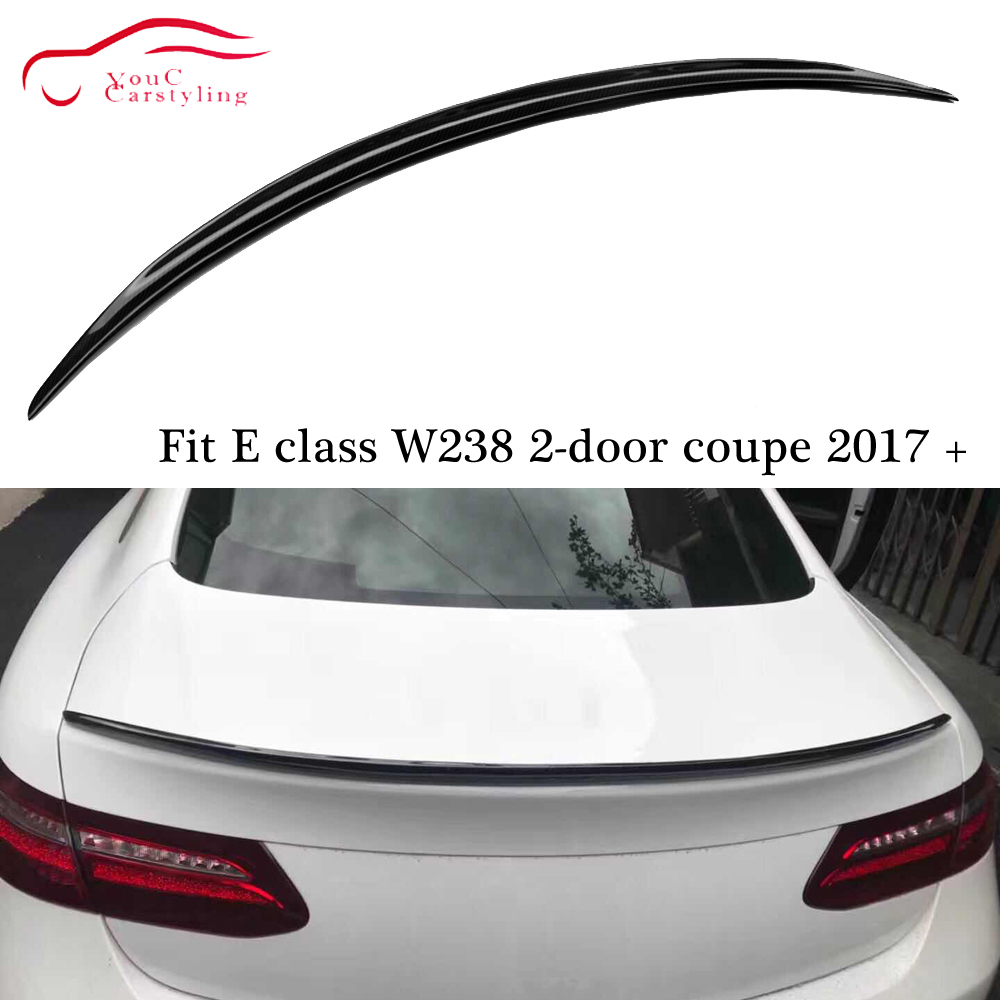 W238 AMG Style Carbon Fiber Rear <font><b>Spoiler</b></font> Wing Trunk Boot Lip for Mercedes E class <font><b>C238</b></font> 2-door Coupe E300 E350 E400 2017 + image